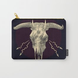 Beelzebub - Evil and dark skull with devil horns. Carry-All Pouch