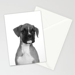 Boxer Pup Stationery Cards
