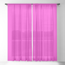 From The Crayon Box – Purple Pizza - Bright Pink Purple Solid Color Sheer Curtain