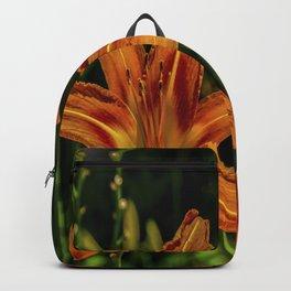 Orange Tiger Lily Trio Backpack