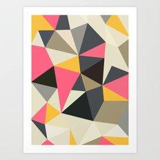 Lemonade Stand Tris Art Print
