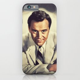 Jack Lemmon, Vintage Actor iPhone Case