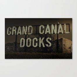 Grand Canal Docks Sign, Dublin 2016 Canvas Print
