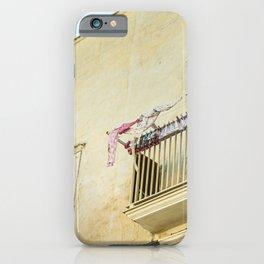 Italian pastel street view iPhone Case