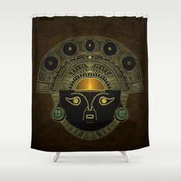 God Sun mask (INTI) Shower Curtain