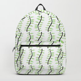 leaf-tree,forest,vegetal,plant,greenery,nature,scrollwork,frond Backpack