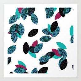 Aztec leafs Ioo Art Print