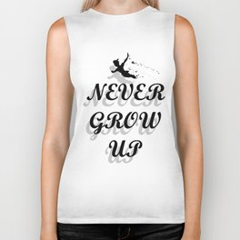Never Grow Up Biker Tank