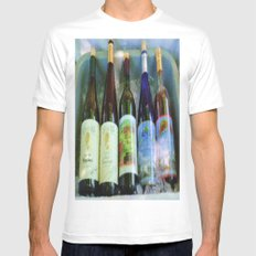 vino time MEDIUM Mens Fitted Tee White