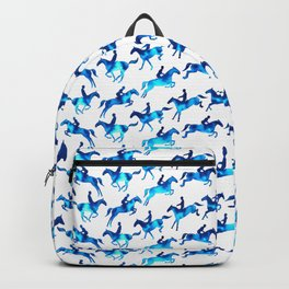 Showjumping Horse Sequence (Blue) Backpack