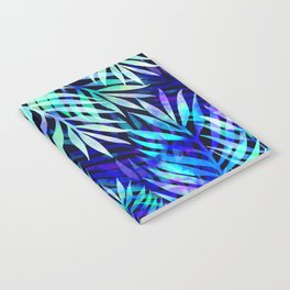 Watercolor palm pattern Notebook