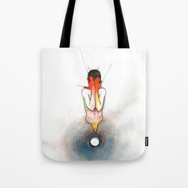 The Exclamation, male nude emotional, NYC artist Tote Bag