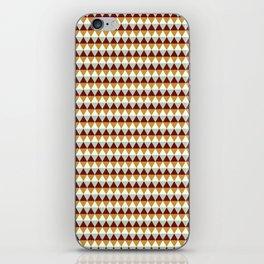 Geometric modern abstract red yellow diamond shapes pattern iPhone Skin