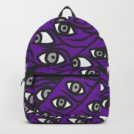 Freddie Eyeballs Ultraviolet Blue Purple Backpack