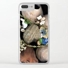 Seashell Garden Clear iPhone Case