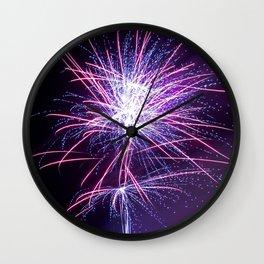 Fireworks - Purple Haze Wall Clock
