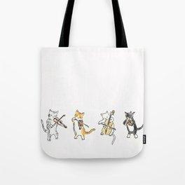 String Meowtet Tote Bag