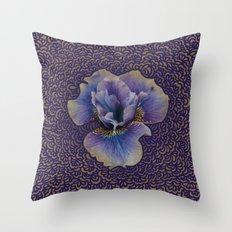 Iris Drawing Meditation Throw Pillow