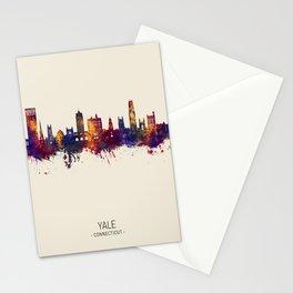 Yale Connecticut Skyline Stationery Cards