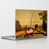 cows Laptop & iPad Skins featuring Cows by Gil Finkelstein