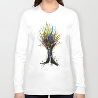 creativity Long Sleeve T-shirts featuring Creativity by Tobe Fonseca