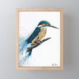 Enlightened Kingfisher Framed Mini Art Print