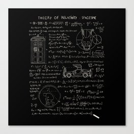 Theory of relativity : spacetime Canvas Print