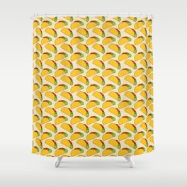 Tacos Doodle Pattern - Taco Series Shower Curtain