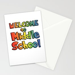 Welcome to middle school Stationery Cards