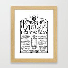 Knockturn Alley Night Bazaar Framed Art Print