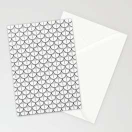 Feather Pattern - Black and White Stationery Cards