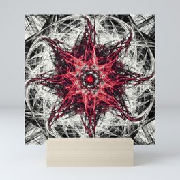 Dark Magic Fractal RED Mini Art Print