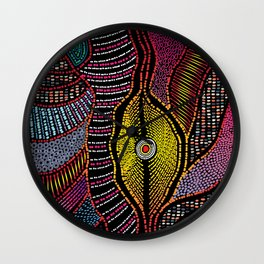 Modern Aboriginal 5 Wall Clock