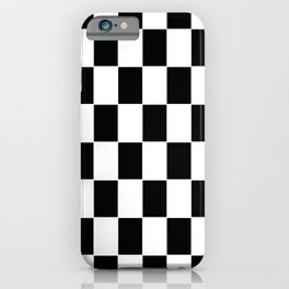 Checkerboard pattern iPhone Case