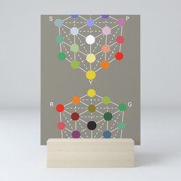 Illustration from the Manual of the science of colour by W. Benson, 1871, Remake (interpretation) Mini Art Print