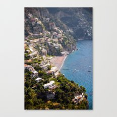 Positano Italy Harbor - Mediterranean Sea Canvas Print