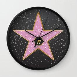 Vintage Hollywood movie star poster  Wall Clock