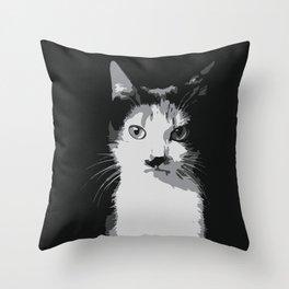 A Feline Mastermind Throw Pillow