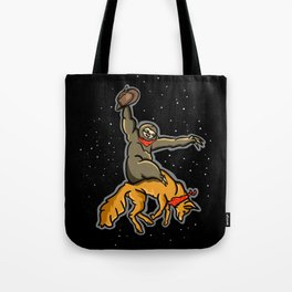 Sloth Rodeo Tote Bag