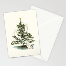 Christmas wolves Stationery Cards