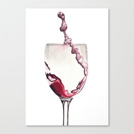 Relax, there's wine! Canvas Print