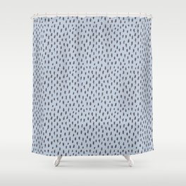 Wild spots/ Grey & blue Shower Curtain