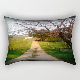 Herding Cattle Rectangular Pillow
