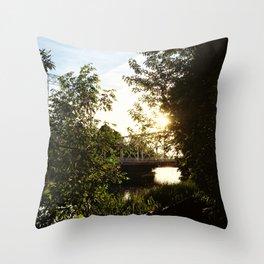The Footbridge Throw Pillow