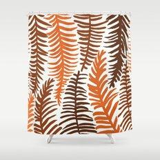 Groovy Palm Earth Shower Curtain