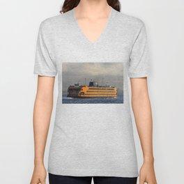 Big Orange Boat Unisex V-Neck