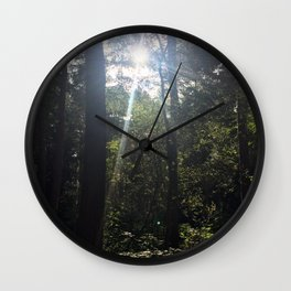 Light Through Trees 2. Rushmere Country Park, Bedfordshire Wall Clock