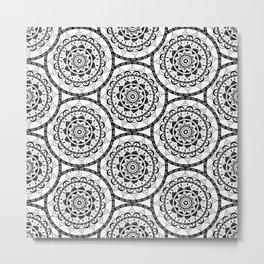 Black and White Mandala 3 Metal Print