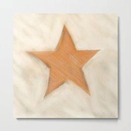 A Star Is Drawn Metal Print