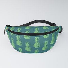 Pineapple Pattern - Dark Blue & Green #760 Fanny Pack